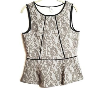 Anthro Floral Lace Peplum Top